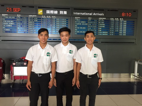 2017年9月21日入国3名